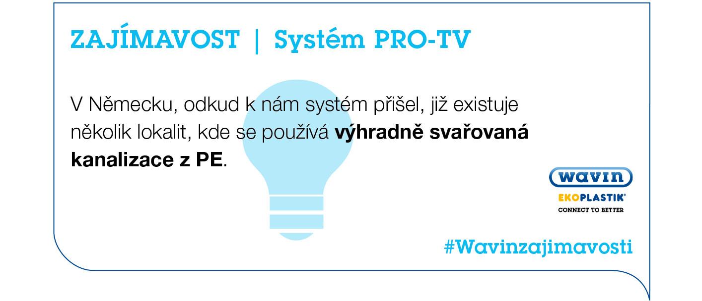 kanalizační systém PRO-TV