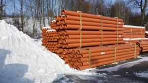 Skladování plastového potrubí v zimě