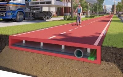 První cyklostezka z plastu je otevřena v Nizozemsku