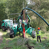 Řízené pluhování pro pokládku kanalizačního výtlaku